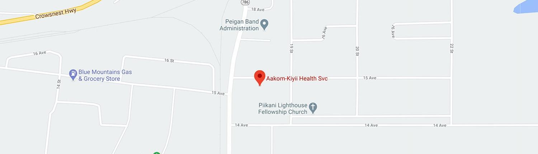 Aakom-Kiyii Health Services map